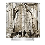 Cross That Bridge Vintage Photo Art Shower Curtain