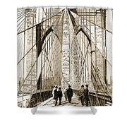 Cross That Bridge Vintage Photo Art Shower Curtain