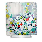 Cross The Line Shower Curtain