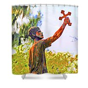 Cross To The Sky Shower Curtain