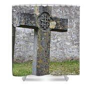Cross Tombstone St. Mary's Wedmore Shower Curtain