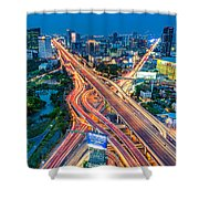 Cross Town Traffic Shower Curtain