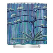 Cross Tree Shower Curtain