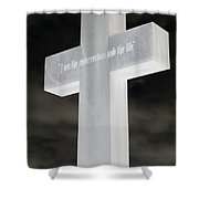 Cross Your Statues Shower Curtain