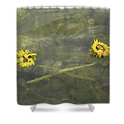 Crossed Sunflower  Shower Curtain