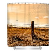 Crossed Wires Shower Curtain