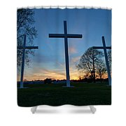 Crosses Shower Curtain