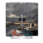 Crossing Guard Shower Curtain