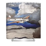 Crossing Over  Amelia Earharts Final Flight Shower Curtain