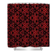 Crossing The Line Abstract  Shower Curtain