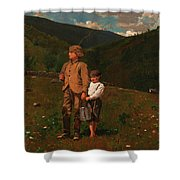 Crossing The Pasture Shower Curtain