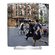 Crossing The Street In Dumbo Shower Curtain
