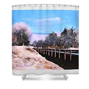 Crossing The Wash Shower Curtain