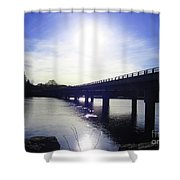 Crossing The Wisconsin River Shower Curtain