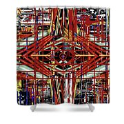 Crossing To Eye V 3 Shower Curtain