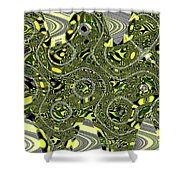 Crossing White Lines Abstract Shower Curtain