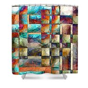 Crossover Abstract Pencil Shower Curtain