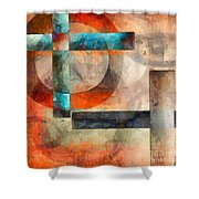 Crossroads Abstract Shower Curtain