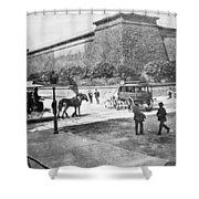 Croton Reservoir, 1898 Shower Curtain