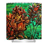 Crotons 5 Shower Curtain