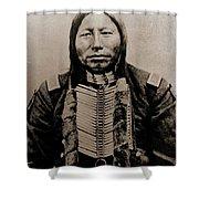 Crow King Shower Curtain