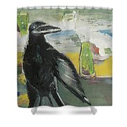 Crow Ruckus Shower Curtain