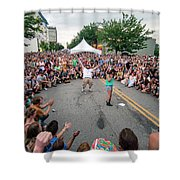 Crowd At Bele Chere Festival Shower Curtain
