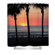 Crowd At Sunset Shower Curtain