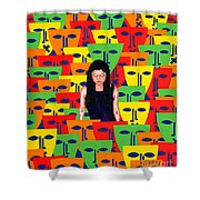 Crowd Shower Curtain