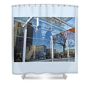 Crowd Queuing Up Shower Curtain