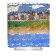 Crowded Beaches Shower Curtain