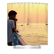 Crowded Canal Shower Curtain