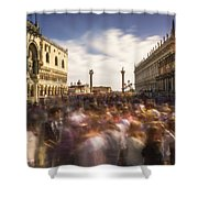 Crowded On St. Mark's Square Shower Curtain