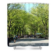 Crowded Spring Morning Shower Curtain