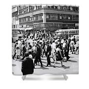 Crowded Street, Nyc, C.1960s Shower Curtain