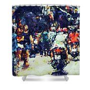 Crowded Street Shower Curtain