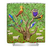 Crowded Tree Shower Curtain