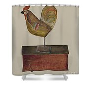 Crowing Cock Shower Curtain