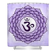 Crown Chakra Shower Curtain