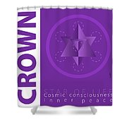 Crown Chakra Series Three Shower Curtain