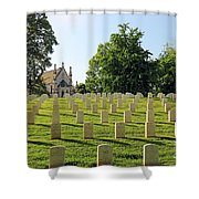 Crown Hill National Cemetery, Indianapolis, Indiana Shower Curtain