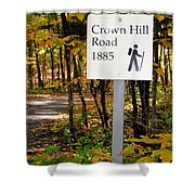 Crown Hill Road 1885 Shower Curtain