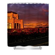 Crown Point At Sunset Shower Curtain