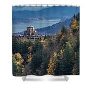 Crown Point In The Fall Shower Curtain
