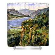 Crown Point Oregon Shower Curtain