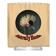 Crowned Crane - Naturally Blonde - Transparent Shower Curtain