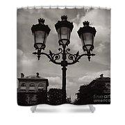 Crowned Luminaires In Paris Shower Curtain