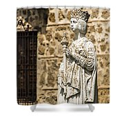 Crowned Statue - Toledo Spain Shower Curtain