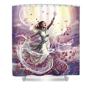 Crowned With Glory... Dancing In Glory Shower Curtain by Tamer and Cindy Elsharouni