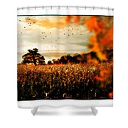 Crows And Corn Shower Curtain